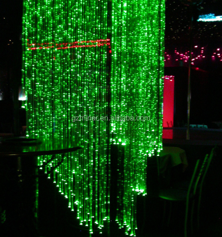 2016 Latest Fiber Optic Waterfall Light Curtain for Wall Lighting Decoration