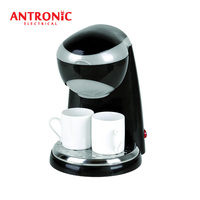ATC-CM408 promotional 2 cup drip coffee maker with 2 ceramic cups