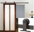 Barn door sliding shed door hardware