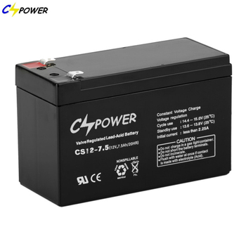 Cspower agm 12V 7.5Ah rechargeable ups battery for Power tools
