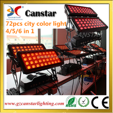 72*18w rgbwa uv city color light with wall wash effect
