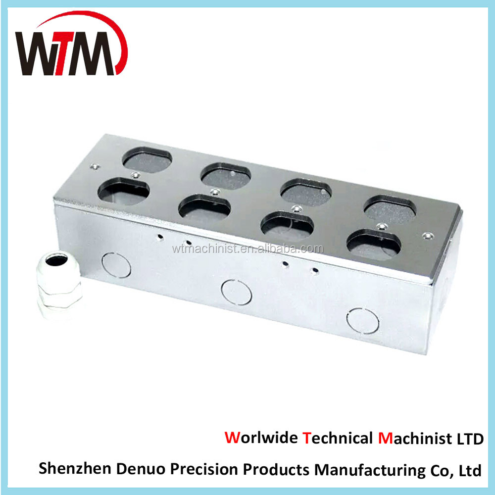 Custom cnc milling machining aluminum enclosure / box / case