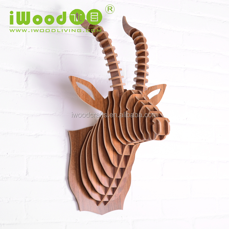 2016 creative wood crafts home decor animal wood carving crafts
