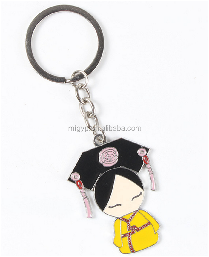 Promotional Custom Metal Keychain For Souvenirs Europe Paris Touring