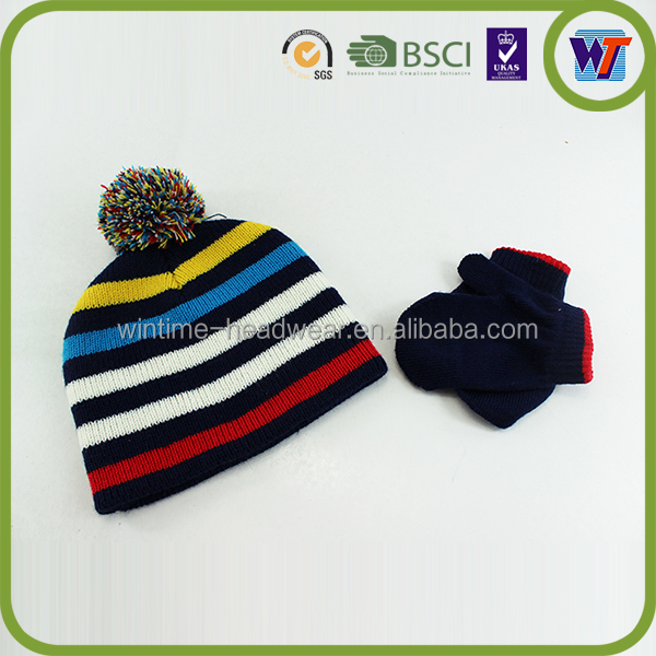 Kids knitted cap hand custom scarfs gloves sets for sale cute crocheted hat