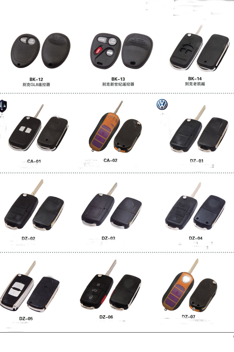 BC02 For replacement car keys case shell Cover