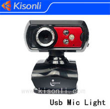 Newest usb pc camera mini packing with mic and led