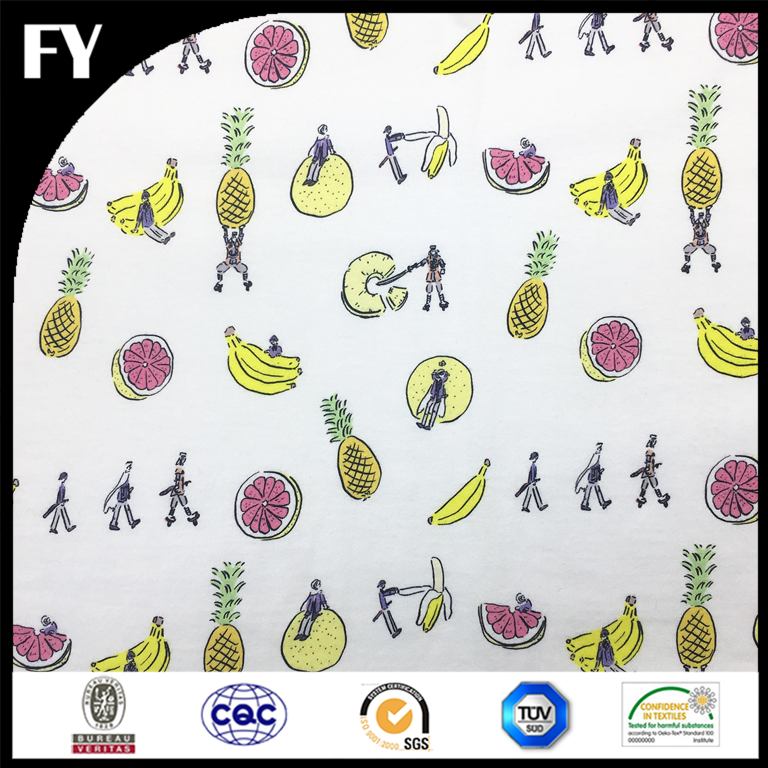 Eco-friendly inks reactive digital print cotton fabric for baby