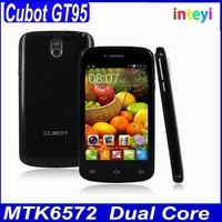 In Stock Cubot GT95 MTK6572 Dual Core Android 4.2.2 Mobile 4.0 Inch 3G Smart Phone 5MP Camera RAM/ROM 512MB/4GB China Cubot
