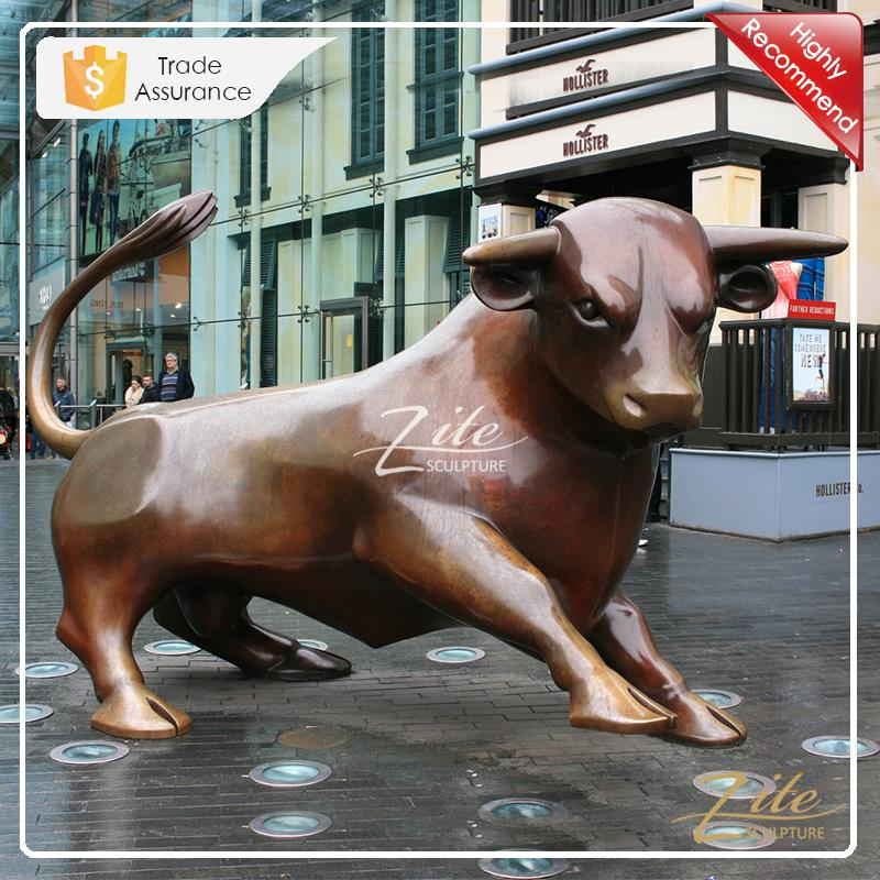 Outdoor Decoration life size bronze bull statues for sale