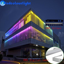 Outdoor DMX512 LED digital tube light/Artnet control compatible 0.5m 1m building ad screen curtain LED tube light/rgb tube light