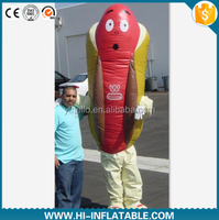 Hot sale customized inflatable moving ham cartoon,inflatable ham for promotion