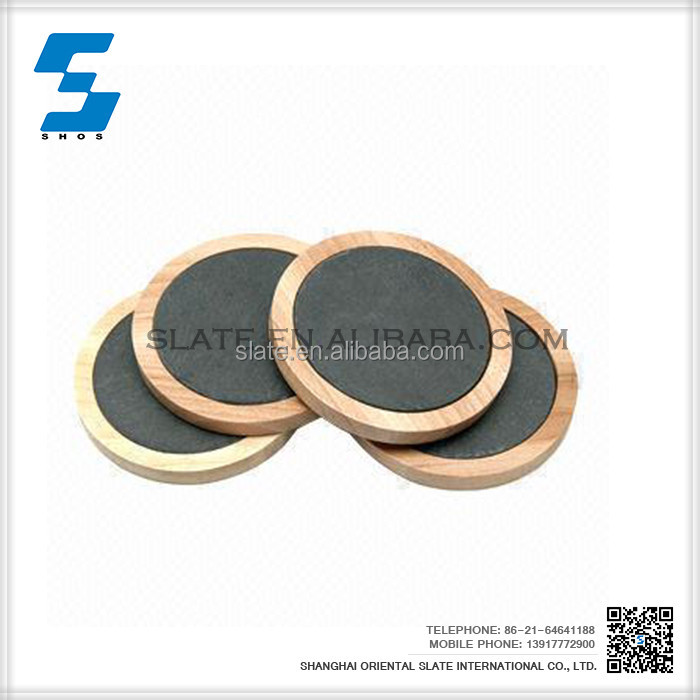 Natural eco-friendly wood frame coffee cup coasters