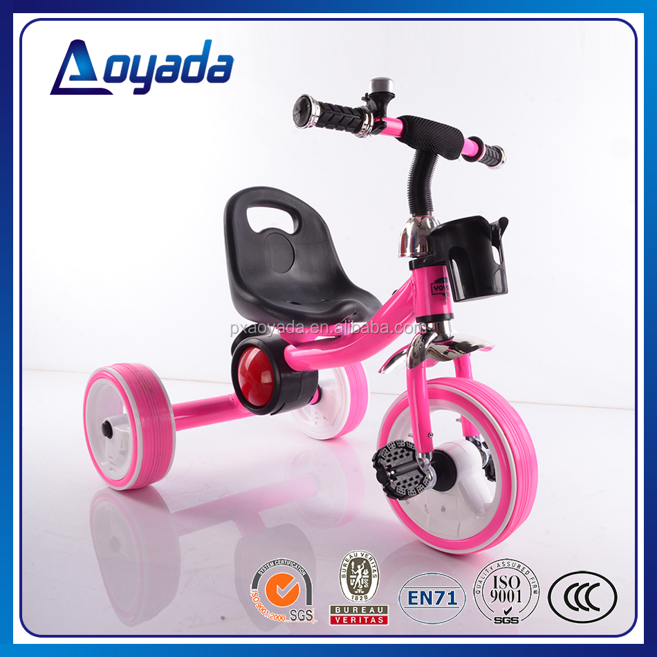 Aoyada new style kids flashing light wheel tricycle with music wholesale from China factory