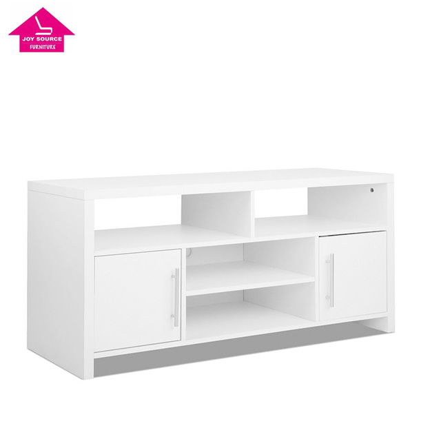 2017 popular TV Stand Entertainment Unit Adjustable Cabinet White