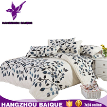 Cheap Classic Leaf Design Microfiber Bedding Set Wholesale From China