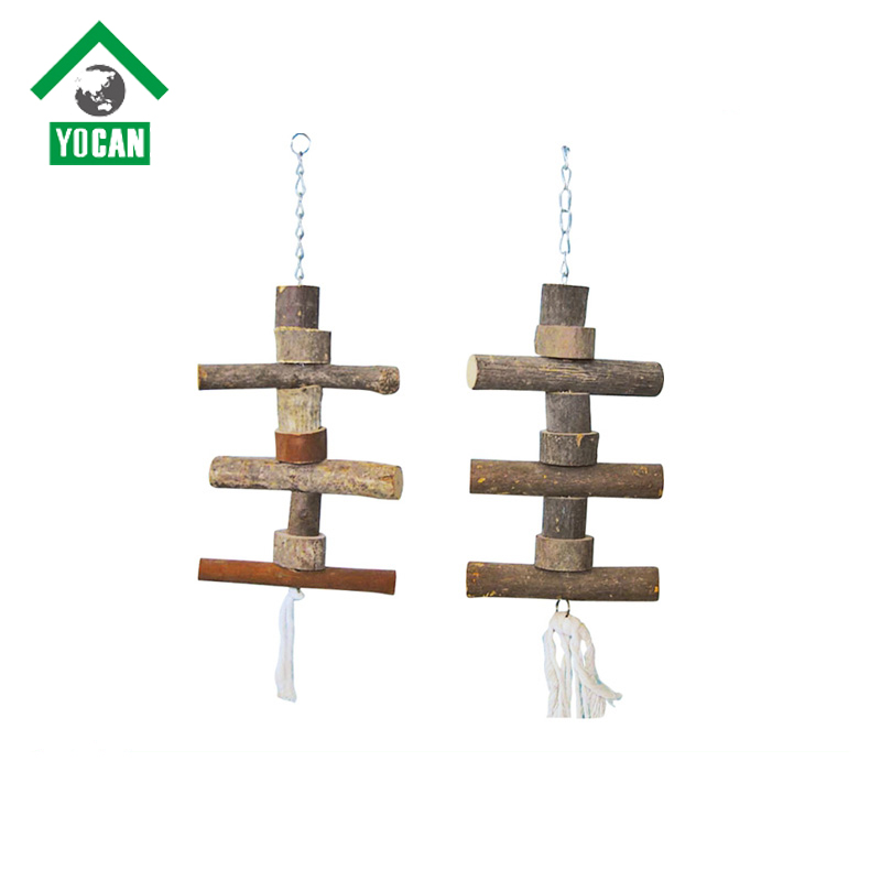 pet supplies wholesale hanging wooden bird toys
