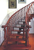 wood folding stairs / build floating staircase / glass staircase
