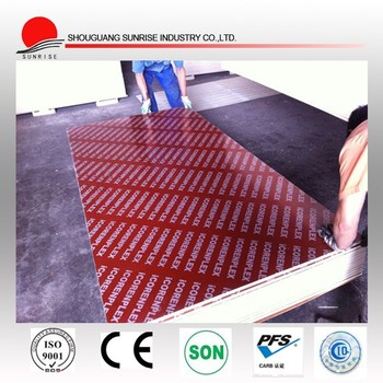 hot color red film faced plywood for construction building from shandong manufacturer