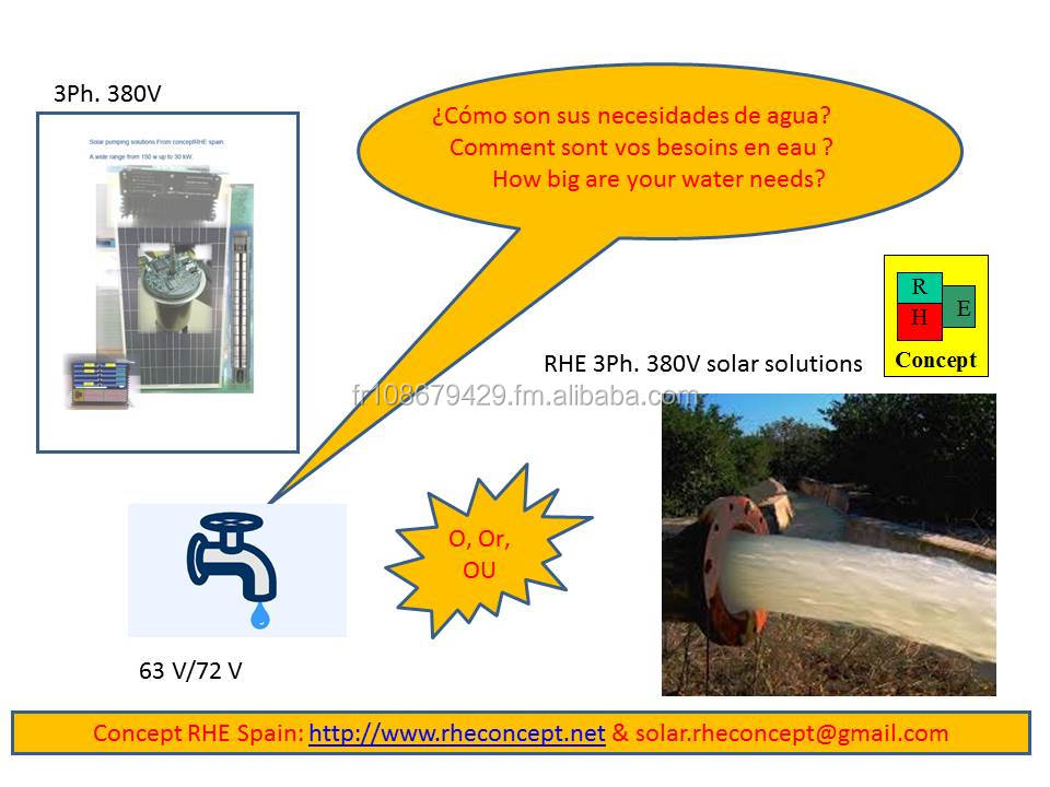 High water flow Solar water solutions