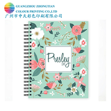 Professional spiral wire o book notebook planner sketch book bulk printing