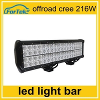 automobile led light 10-30v 216W car led light bar cree for off road, trucks, 4 wheel vehicles