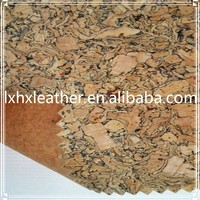 DH431 cork leather fabric,cork shoe material and cork leather for bags