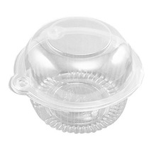 Single Individual Clear Plastic Cupcake Muffin Dome Holders Cases Boxes Cups Pods with Stylus