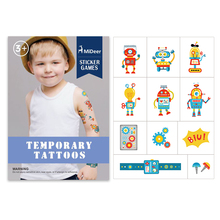 mideer MD4016 Watermark tattoo stickers cartoon colorful stickers 5 styles for choose boy girl toy