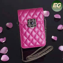 Universal crossbody cell phone bag genuine leather carrying cases card holder shoulder pouch bag EMG4946