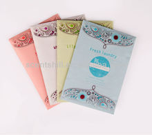 Multi choice fragrance lavender scented paper sachet for car and home air freshener