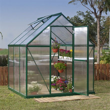 Outdoor Portable Mini 4 Shelves Greenhouse Green House Garden Brand New - Transparent Plastic Covering