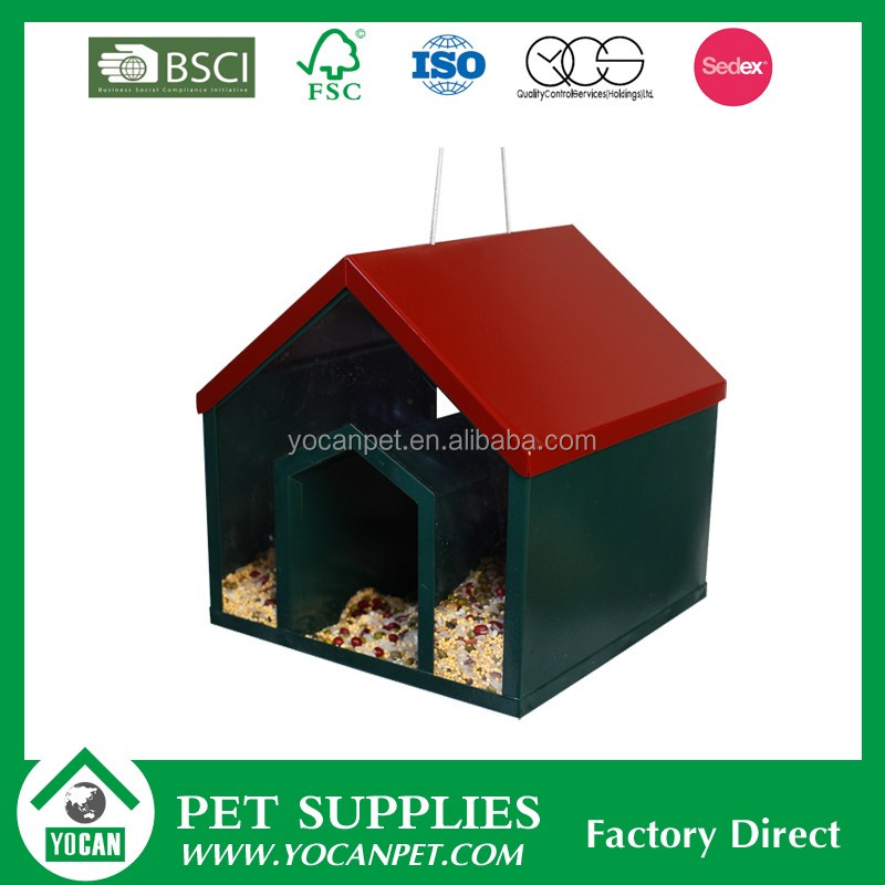 YOCAN Pet Bowls hanging metal feeder for birds