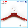Wholesale durable wide shoulder rubber coating plastic uniform hanger