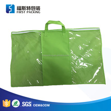 Pillow packaging non-woven plastic bag with handle and logo