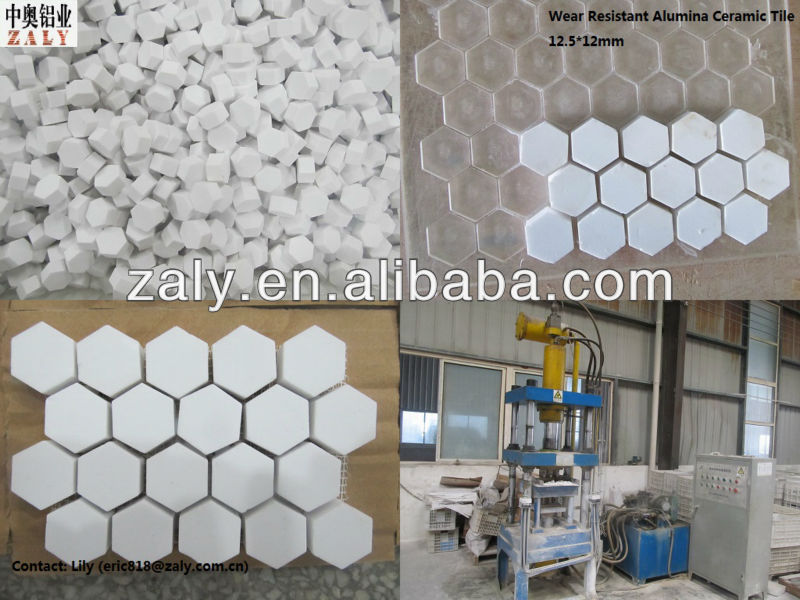 92%/95%High Wear Resistant Hexagonal Alumina Ceramic Tile