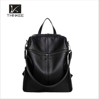 Fashion black women backpack/lady shopping bag