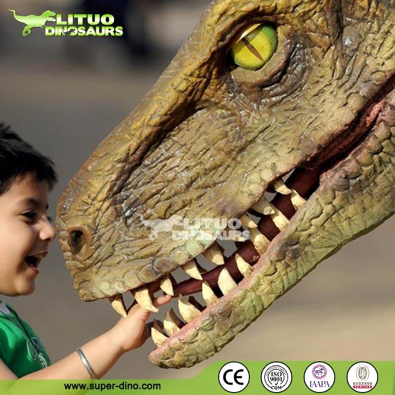 Hot Halloween Movie Props Dinosaur Puppet