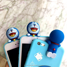 3d cute soft blue color Doraemon cartoon girl silicone phone case for LG K8, for iphone 6 7 8 X, for Samsung galaxy S8 note7