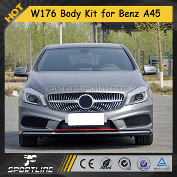 W176 A Class Auto Body kit for Mercedes-Ben z A180 A200 A260 A45