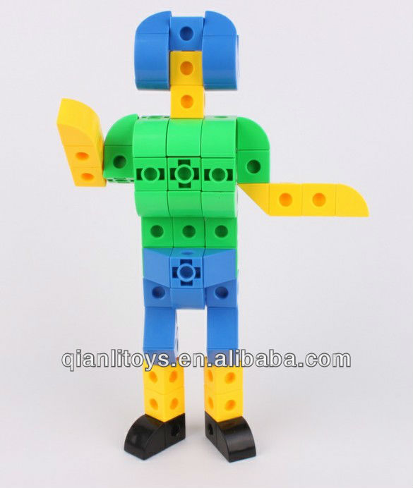Plastic Educational Cube Block Toy QL-015(A)-5