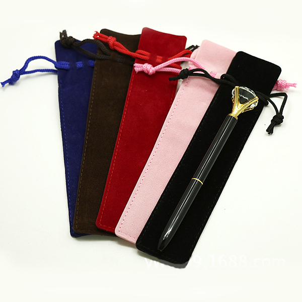 Double-sided thicken velvet mouth pencil bag