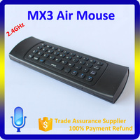 MX3 Remote control 3d wireless air fly mouse 2.4Ghz wireless keyboard for Android TV box/PC/Tablet