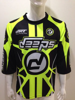 2016 Wholesale sublimation custom MX Shirts, fluorescence printing colors 3/4 sleeve MX jerseys, Motocross jersey