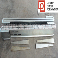 Flat steel c clamp for building concrete forms