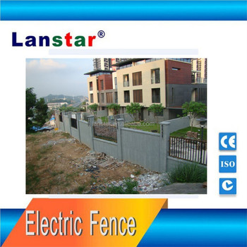 Security perimeter electric fence system for kindergarten , safe and durable