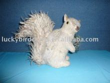 standing squirrel with snow
