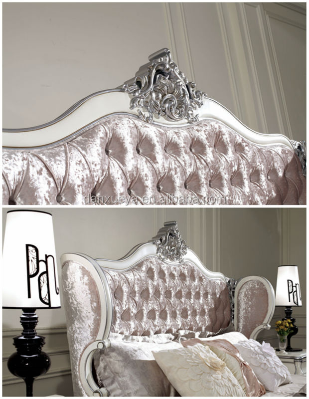High Headboard With Pink Velvet Crystal Button King Size
