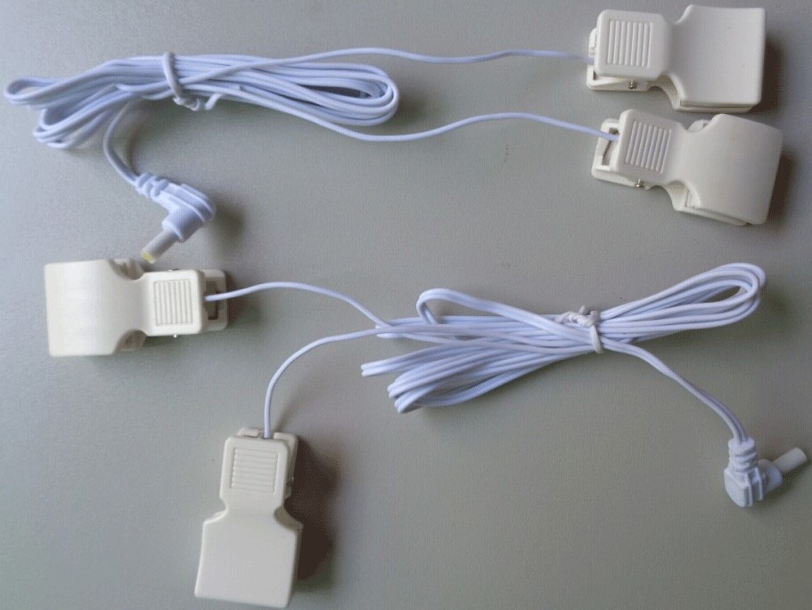 medical tens lead wire with big ear clips for tens machine