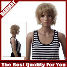 Short skin top hair wigs